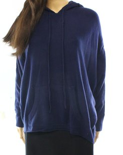 Sweet Romeo Acrylic Batwing Color-blue Sweater