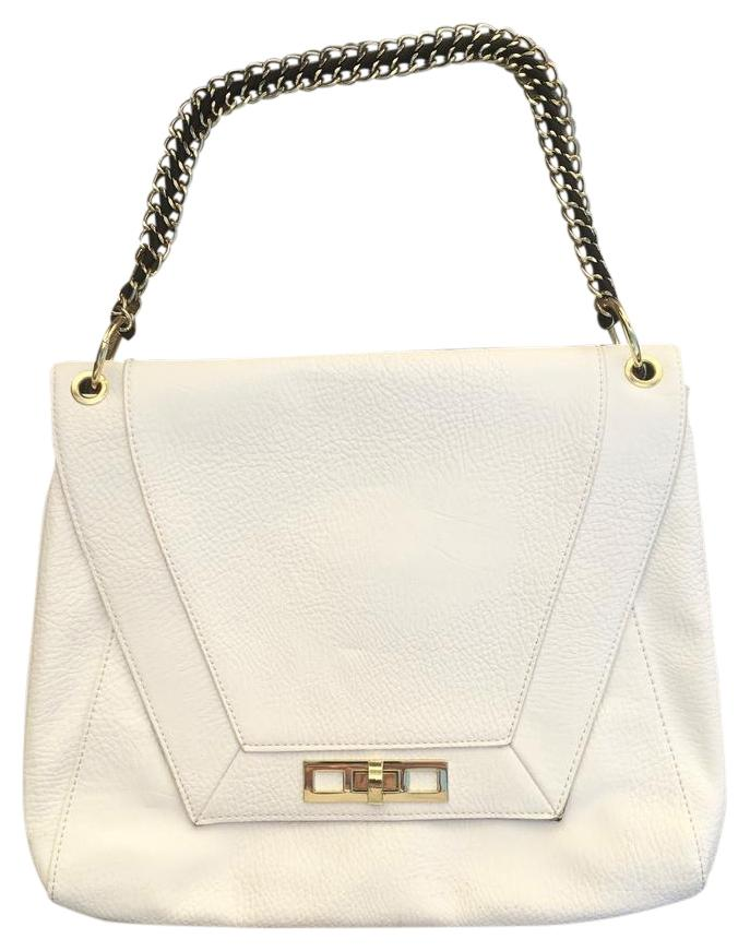 White faux leather shoulder bag 3WeH8mN