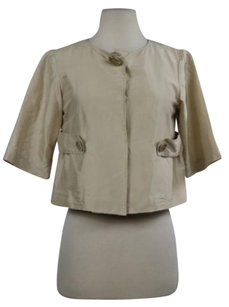 T Tahari Womens Basic Beige Jacket