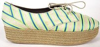 Tabitha Simmons Blue / Green Platforms