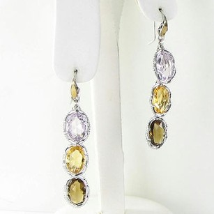 Tacori Tacori 18k925 Color Medley Amethyst Quartz Earrings 925 Long Dangles