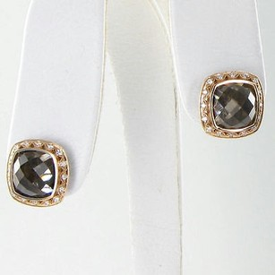 Tacori Tacori 18k925 Earrings Truffle Studs 0.21cts Diamond Quartz 18k Rg 925