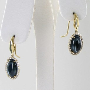 Tacori Tacori 18k925 Golden Bay Earrings 0.35cts Diamond Blue Topaz Hematite 18k Y Gold