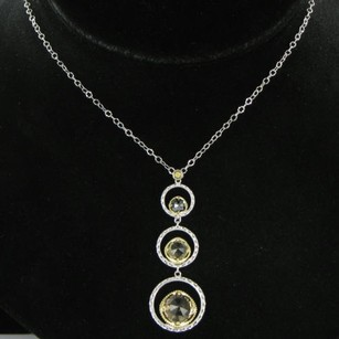 Tacori Tacori 18k925 Midnight Sun Skipping Stone Necklace Quartz Hematite 18k Yg 925