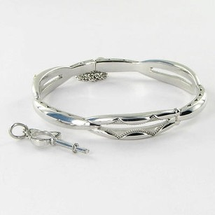 Tacori Tacori 18k925 Promise Bangle Bracelet 925 Silver W Working Key