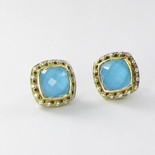 Tacori Tacori Barbados Stud Earrings 0.21cts Diamond 925 18k Yg Neo Turquoise