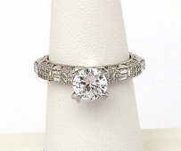 Tacori Tacori Platinum .62ctw Diamond Heart Prongs Mounting Solitaire Waccent Ring