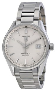 TAG Heuer TAG HEUER Carrera Calibre 5 Silver Dial Stainless Steel Men's Watch THWAR211BBA0782