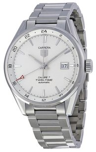 TAG Heuer TAG HEUER Carrera Dual Time Silver Dial Stainless Steel Men's Watch THWAR2011BA0723