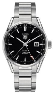 TAG Heuer Tag Heuer Men's Carrera Auto GMT Stainless Steel Black Dial