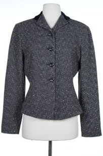 Tahari Womens Grey Beige Gray Jacket