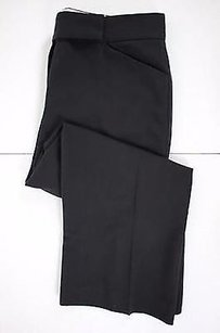 Tahari Womens Solid Polyester Blend Cropped Capri/Cropped Pants Black