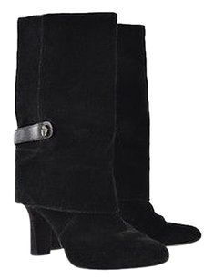Tahari Womens Mid Calf Black Boots