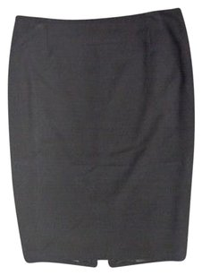 Tahari Stretchy Zipper Pencil Vent Sma3766 Skirt Black