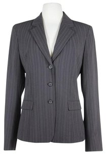 Tahari Tahari Womens Brown Beige Striped Blazer Jacket Full Lining