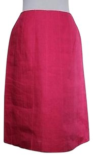 Talbots Womens 100 Linen Career Casual Skirt Pink