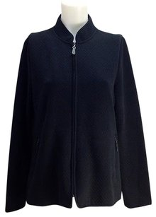 Talbots Quilted Cotton Black Jacket