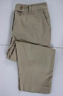 Talbots Womens Solid Capri/Cropped Pants Tan