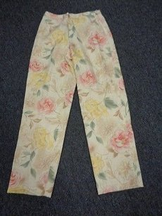 Talbots Floral Silk Blend Lined Casual Sma6855 Pants