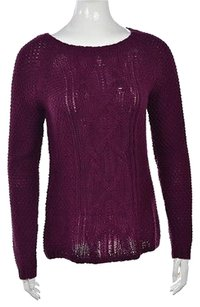 Talbots Womens Crewneck Wool Long Sleeve Cable Knit Sweater