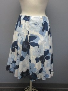 Talbots Blue Floral Skirt blues, white