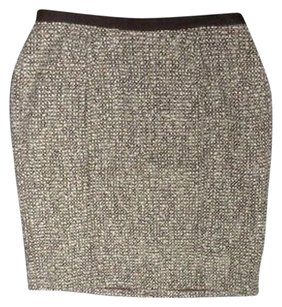 Talbots Textured Pencil W Lining 12w Wool Blend Sma6806 Skirt Gray And Brown