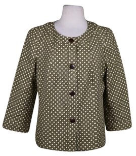 Talbots Talbots Beige Blazer Cotton Printed Wtw 34 Sleeve Basic Jacket