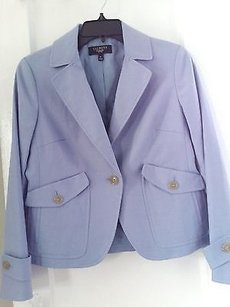 Talbots Talbots Petite Light Blue Cotton Blazer Jacket 6p.