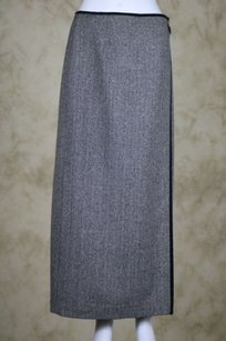 Talbots Womens Wrap Skirt Beige / Black