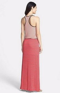 Oat/Red/Brown Maxi Dress by Tart Collections Maris Oatred Striped Racer Back Maxi
