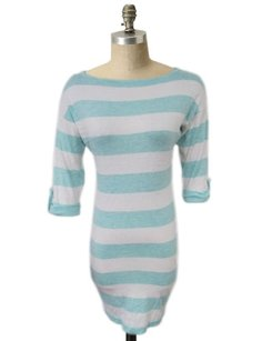 Tart short dress White, mint Oxana Stripe Boatneck on Tradesy