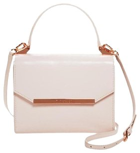 Ted Baker Leather Satchel in Baby Pink
