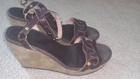 Ted Baker Leather Suede Brown Sandals