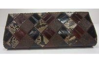 Ted Rossi Brown Diamond Browns Clutch