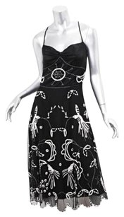 Temperley London short dress Black Temperley Silktulle Embroidered Bird Sun 128 on Tradesy