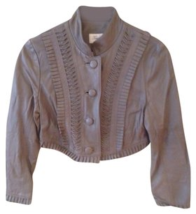 Temperley London Gray Leather Jacket