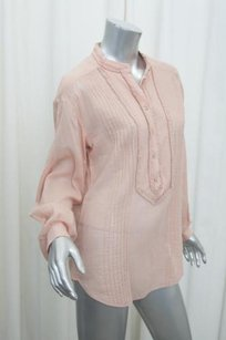 Temperley London Temperley Womens Casual Cotton Shirt Top Pink