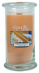 The Candle Factory The Candle Factory Large 15-ounce Jar Crackling Candle, Carrot Cake