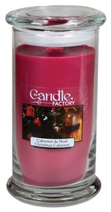 The Candle Factory The Candle Factory Large 15-Ounce Jar Crackling Candle, Christmas Cabernet