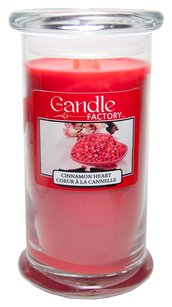 The Candle Factory The Candle Factory Large 15-ounce Jar Crackling Candle, Cinnamon Heart