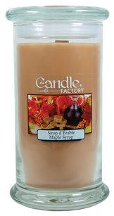 The Candle Factory The Candle Factory Large 15-ounce Jar Crackling Candle, Maple Syrup