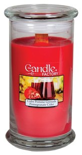 The Candle Factory The Candle Factory Large 15-ounce Jar Crackling Candle, Pomegranate Cider