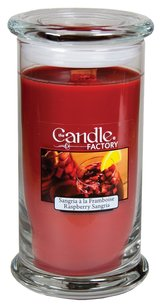 The Candle Factory The Candle Factory Large 15-ounce Jar Crackling Candle, Raspberry Sangria