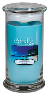 The Candle Factory The Candle Factory Large 15-ounce Jar Crackling Candle, Seaside