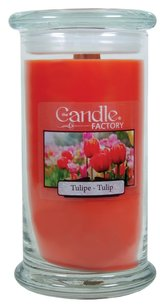 The Candle Factory The Candle Factory Large 15-ounce Jar Crackling Candle, Tulip