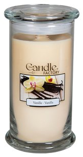 The Candle Factory The Candle Factory Large 15-ounce Jar Crackling Candle, Vanilla