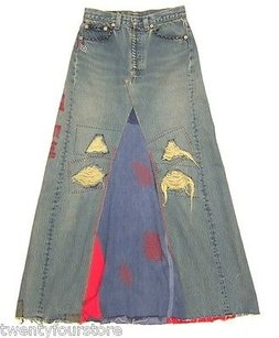 The Great China Wall X Maxi Skirt Blue