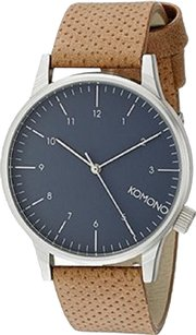 The Komono KOMONO Unisex KOM-W2254 Winston Regal Series Analog Display Japanese Quartz Brown Watch