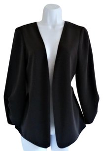 The Limited Open Front Charcoal Silky Grey Blazer