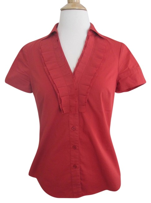 Preload https://item4.tradesy.com/images/the-limited-red-ruffled-v-neck-w-collar-button-front-short-sleeve-shirt-blouse-size-2-xs-10291453-0-2.jpg?width=400&height=650